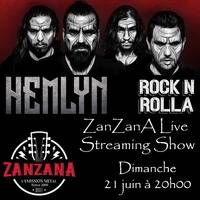 Hemlyn au Rock'n'Rolla - ZanZanA Live Streaming Show by ZanZanA, l'émission METAL de RTCI